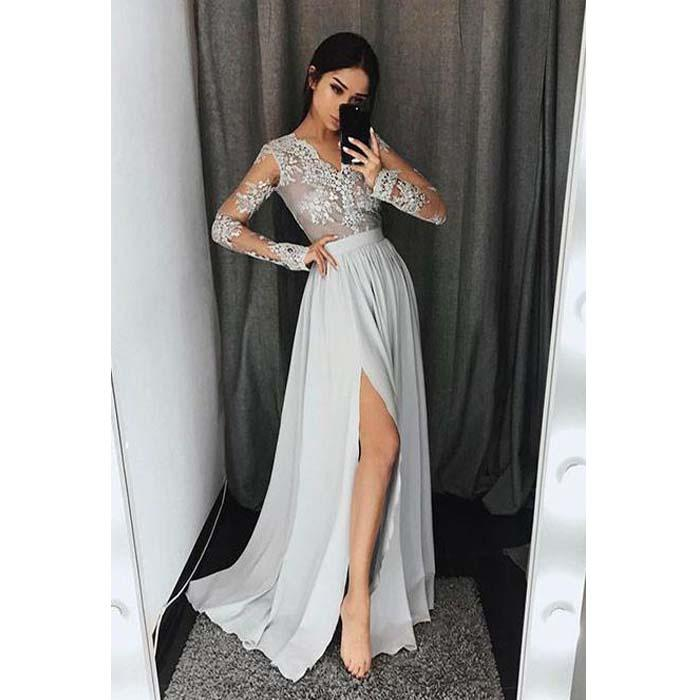 Sexy long sleeve long dresses